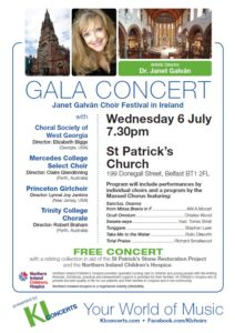 Gala Concert: Janet Galvan Choir Festival in Ireland @ St Patrick's Church | Belfast | United Kingdom