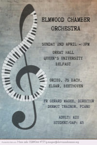 Elmwood Chamber Orchestra @ Great Hall, Queen's University | Belfast | Northern Ireland | United Kingdom