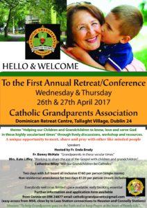 Catholic Grandparents Association @ Dominician Retreat Centre, Tallaght Village, Dublin 24