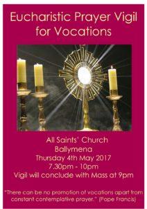 Eucharist Prayer Vigil for Vocations @ All Saint's Church, Ballymena
