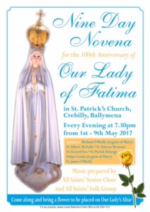 Our Lady of Fatima - 9-Day Novena @ St Patrick's Church | Northern Ireland | United Kingdom