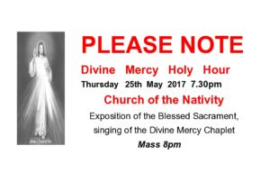Divine Mercy Holy Hour @ Church of the Nativity | Belfast | Northern Ireland | United Kingdom