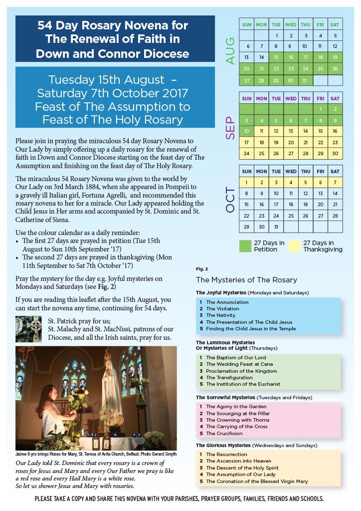 photograph relating to 54 Day Rosary Novena Printable identify 54 Working day Novenas Printable Desk Very similar Keyword phrases