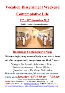 Vocation Discernment Weekend @ Siena Monastery | Drogheda | County Louth | Ireland