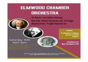 Elmwood Chamber Orchestra Concert @ College Hall, St Malachy's College   Northern Ireland   United Kingdom