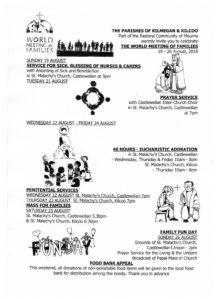 World Meeting of Families - The Parishes of Kilmegan & Kilcoo