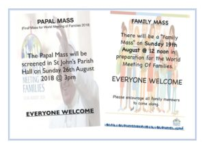 Screening of Papal Mass @ St John's Parish Hall | Belfast | Northern Ireland | United Kingdom