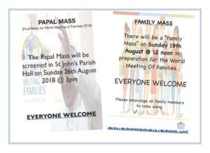 Family Mass  - Preparation for WMOF18 @ St John's Parish | Belfast | Northern Ireland | United Kingdom