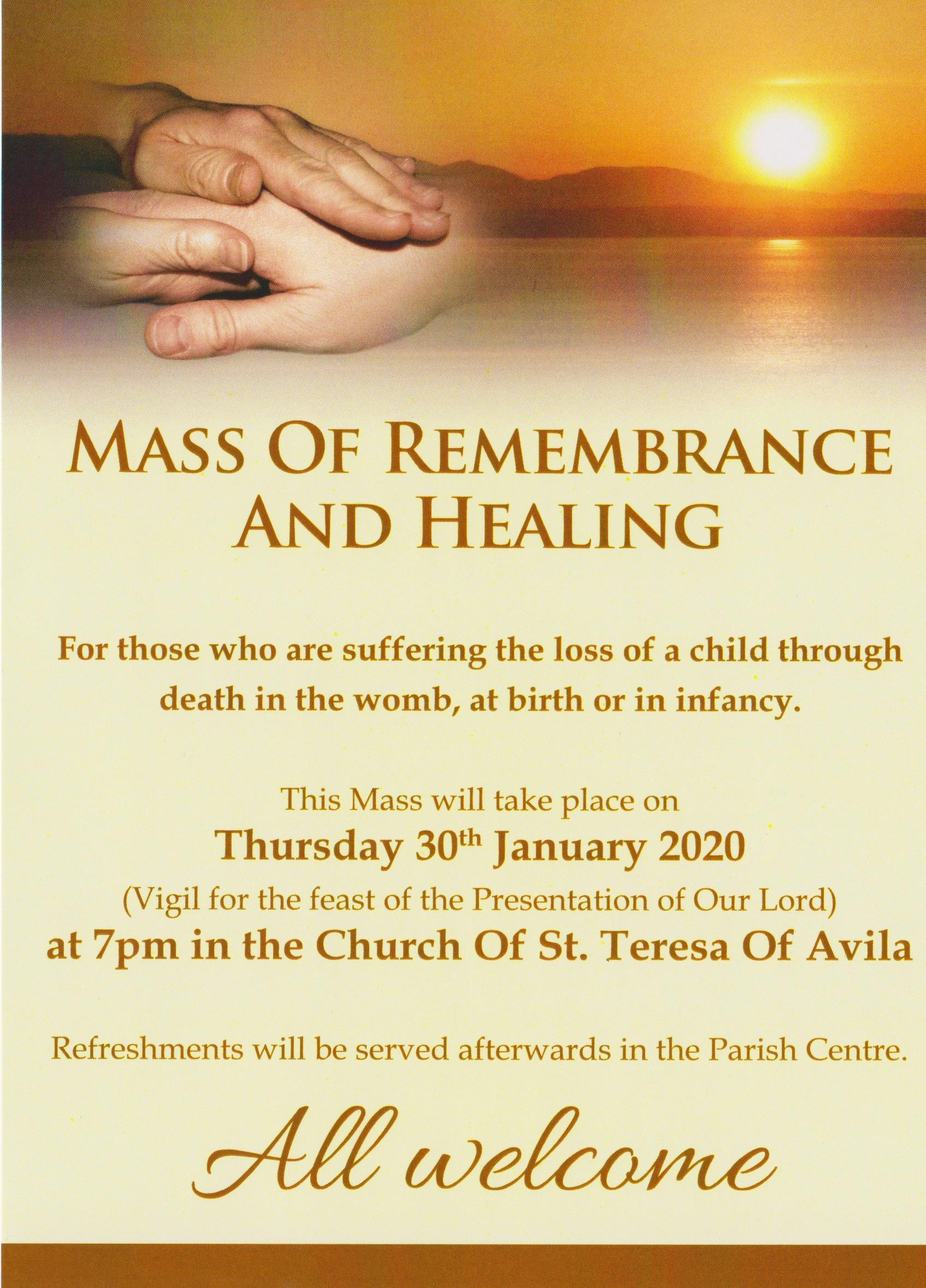 Mass of Remembrance and Healing @ Church of St. Teresa of Avila